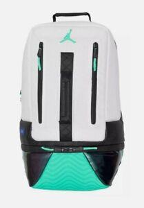 Nike Air Jordan XI 11 Retro Backpack Bag White/Emerald Rise-Black 9A1971 W51 New
