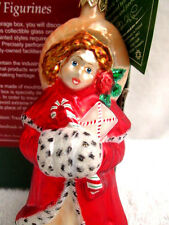 New.Slavic Treasures.Christmas Ornament.Holiday Girl.Glass.Poland