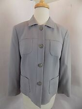 NWT Women's Talbots Suit Jacket Blazer Sz 10 Gray Lavender Hued Wool  4 Buttons