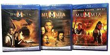 3 Blu-ray **LA MUMMIA ♦ LA TRILOGIA** serie completa con Brendan Fraser nuovo