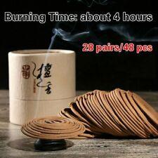 Bobina de natural 4 horas Buda Incienso Sándalo Cedro Fragancias Retro Decoración chic