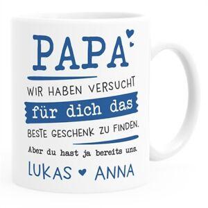 Tasse personalisiertes Geschenk Spruch Papa/Mama/Oma/Opa Wir habe versucht für