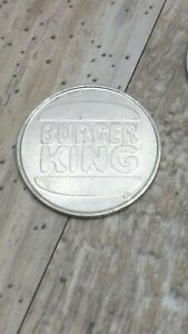 Vintage 1983 Burger King Free Breakfast Beverage Token Metal Coin Advertising