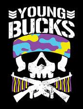 Autographed Young Bucks 18 x 24 Poster, NJPW ROH PWG Skull Matt Nick Jackson