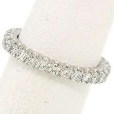 Solid Platinum .90ctw G VS1 Prong Set Round Brilliant Diamond Eternity Band Ring