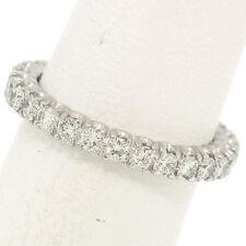 Sólido Platino .90ctw G VS1 Engarzado Diamante Brillante Redondo eternidad