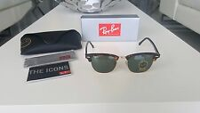 Ray-Ban RB3016 Clubmaster Classic Brown/Gold Frame Tortoise Green Lenses 51mm