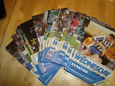 Complete set of Sheffield Wednesday 1986-7 home programmes  - 27 programmes