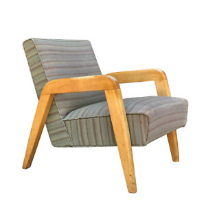 Mid-Century Modern Sculpted Lounge Chair by Russel Wright for Thonet