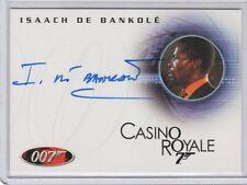 James Bond in Motion Isaach De Bankole  auto card