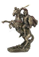 "Alexander The Great On Horseback Greek King Statue Sculpture Figure 13"" Tall"