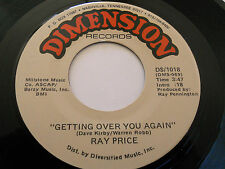 RAY PRICE NM Getting Over You Again 45 Circle Driveway DS-1018 Dimension 7""