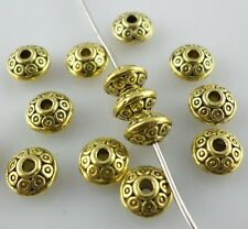 40pcs Tibetan Gold UFO Charm Spacer Beads 7*4mm DIY Jewelry Beading Making