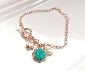 Friendship Charms Bracelet, Rose Gold plated Star Charm Bracelet