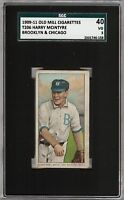 Rare 1909-11 T206 Harry McIntyre Brooklyn & Chicago Old Mill SGC 40 / 3 VG Nice