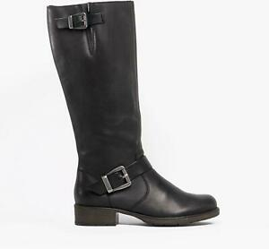 Rieker Z9580-00 Ladies Leather Winter Comfort Zip Tall Winter Riding Boots Black