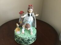 """VINTAGE """"JACK AND JILL"""" MUSIC BOX - ONCE UPON A RHYME COLLECTION, NURSERY RHYMES"""