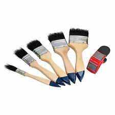 5pc Decorating Decorators Paint Brush with Magnetic Paint Brush Holder