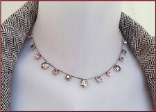 NEW PILGRIM SILVER PLATED CHAIN NECKLACE SWAROVSKI CRYSTALS FLOWERS PENDANT RARE