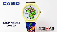 """VINTAGE CASIO PTM-10 """"ART CASUAL COLLECTION"""" MODULO.381 SERIES DINOSAURS"""