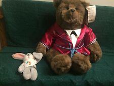 Vintage 1985 Gund Large Abiner Smoothie, Last Elegant Bear, Signed And Numbered