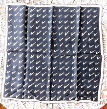 Vintage 1950's Pure Silk Black And Cream Scarves By Vera Check Mark Scarf