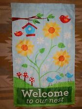 "Welcome to Our Nest ~ 27"" x 45"" House Flag"