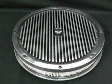 AIR FILTERS 14x2 INCH ROUND FINNED BLACK AND ALUMINIUM TO SUIT 5 1/8 NECK CARBI