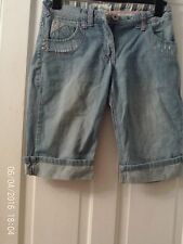 DENIM WASHED OUT SHORTS AGED 13