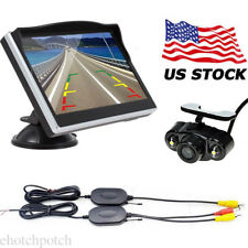 """5"""" TFT LCD Car Rear View Monitor Color Screen DVD VCR with Reverse Backup Camera"""