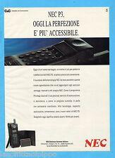 QUATTROR991-PUBBLICITA'/ADVERTISING-1991- NEC P3 TELEFONO PORTATILE