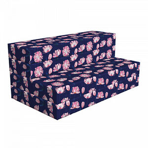 Ambesonne Floral Folk HR Foam Portable Mattress & Fabric Cover in 3 Sizes