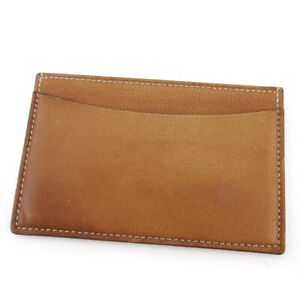 Cartier card case Leather Auth used D2219