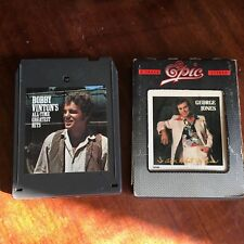 3 tapes Hank Williams / George gones / Bobby vinton's 8 track tape  Tested