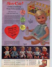 1965 PAPER AD Doll Suzy Cute Singin' Chatty Dee-Dee Drowsy Little Miss Walking