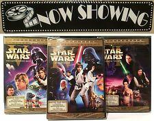 "Star Wars Trilogy Dvds Widescreen Original Theatrical Version ""Han Shot 1st"" NEW"
