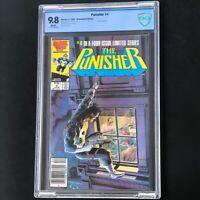 The Punisher #4 (Marvel 1986) 💥 CBCS 9.8 White Pg 💥 Newsstand Jigsaw App Comic