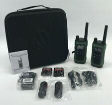 Motorola Talkabout T465 Two-Way Radio, 35 Mile, 2 Pack Bundle, Dark Green