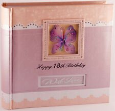Happy 18th Birthday Photo Album for Girl | Present | Keepsake | Gift Boxed
