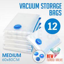 12 x Vacuum Storage Bags - MEDIUM 60x80cm - Space Saving - BULK Buy Saver