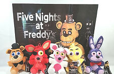 FNAF FIVE NIGHTS AT FREDDY'S GOOD STUFF SET OF 5 PLUSH FREDDY FOXY CHICA BONNIE