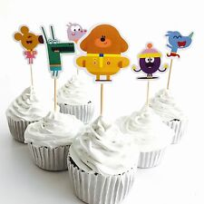 12x Hey Duggee Cupcake Toppers *HANDMADE*. Party Supplies Lolly Loot Bags