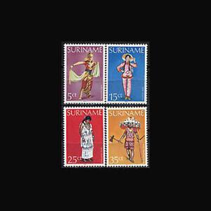 SURINAM, Sc #524, 26,28, 29, MNH, 1979, Costumes, AXXAS8Z-9