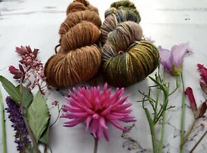 """Hand Dyed  """"Hello Parker"""" 8 Ply   Merino  Yarn X 2 Skeins """"Colour  Therapy"""""""
