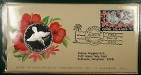 1976 Cook Islands $5 Silver Coin and First Day Cover Official Government Issue