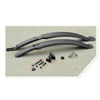 Black Front Rear Fender Bicycle Bike Mudguard Dry Clean Lightweight Plastic Set