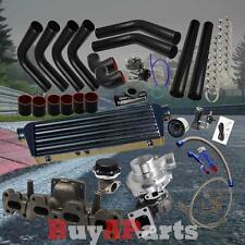 DIY Black Intercooler Piping Couplers Turbo Kit for 1994-2005 Mazda Miata 1.8L