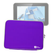 Soft Purple Neoprene Protective Zip Case/Pouch for HP Pro Slate 10 EE Tablet