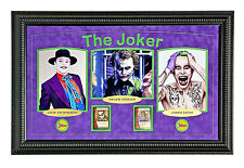 "JOKER ""BATMAN MOVIES"" FRAMED 8X COLLAGE #D/10 UN SIGNED NICHOLSON LEDGER LETO"