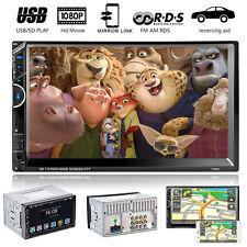 "7"" HD doppio 2DIN auto Bluetooth stereo Radio Video MP5 MP3 Player FM AM USB RDS"